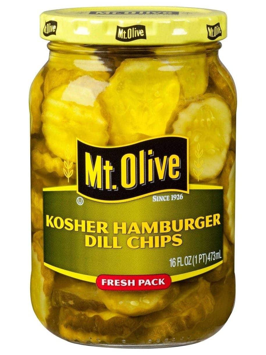 Kosher Hamburger Dill Chips Jar Front