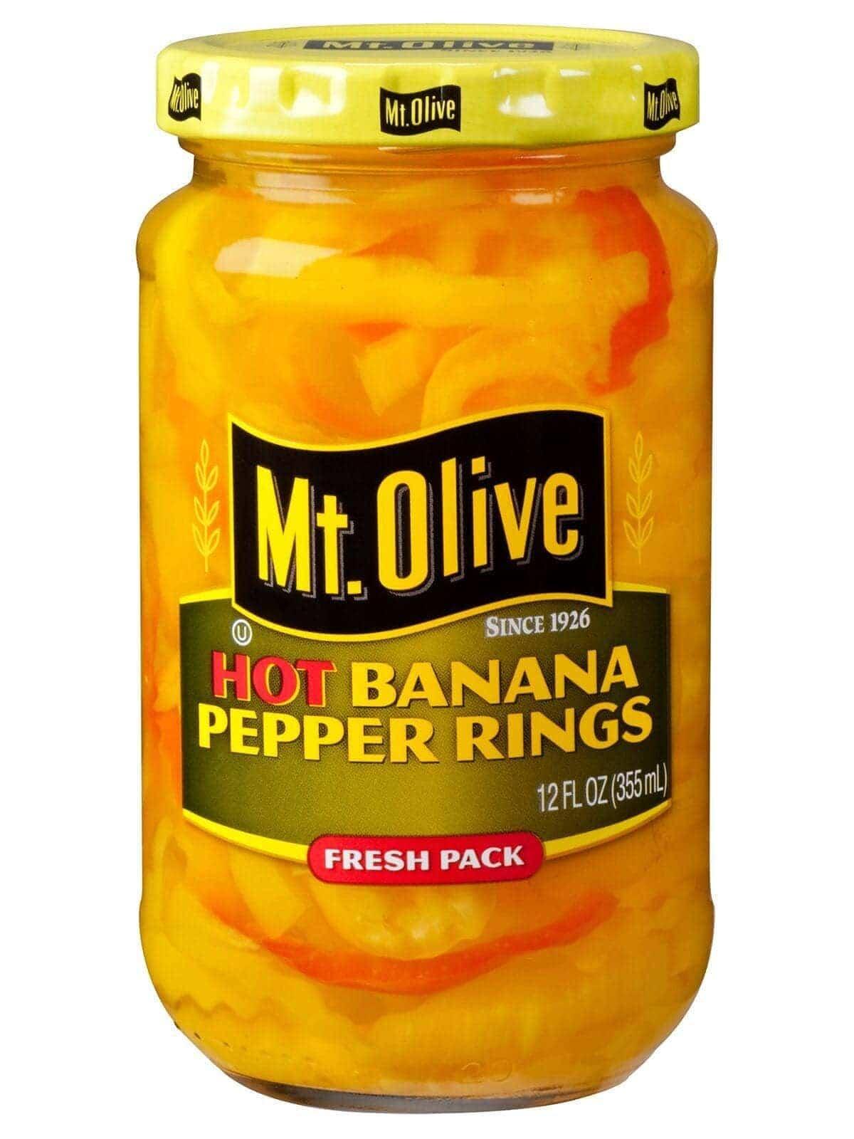 Hot Banana Pepper Rings - Mt Olive Pickles