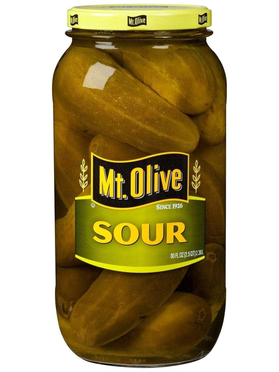 sour pickles Mt. Olive Pickles