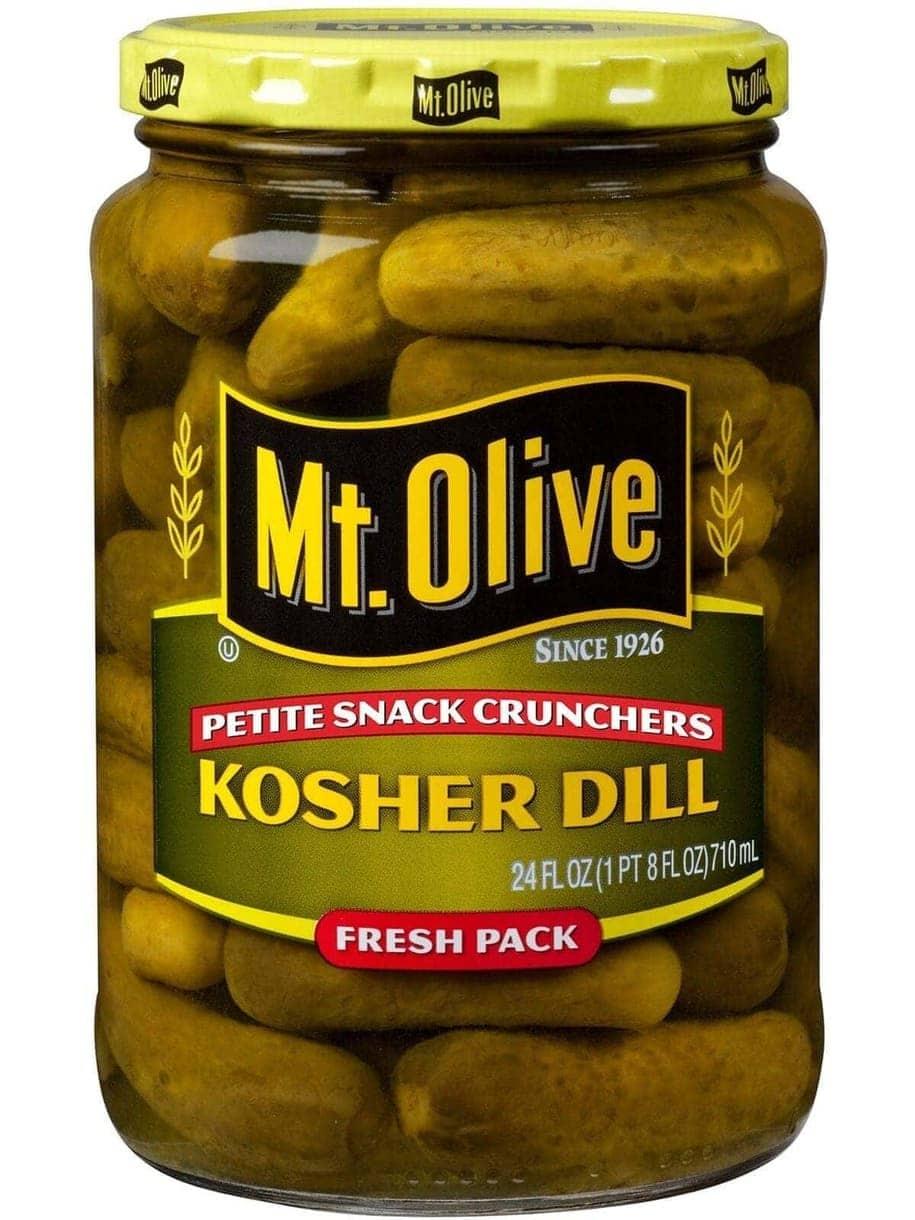 Petite Snack Cruncher Kosher Dills Jar Front