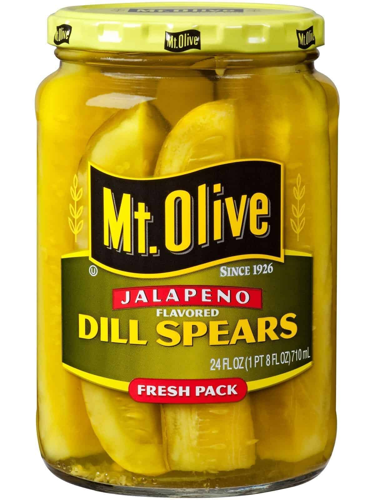 Jalapeno Flavored Dill Spears Jar