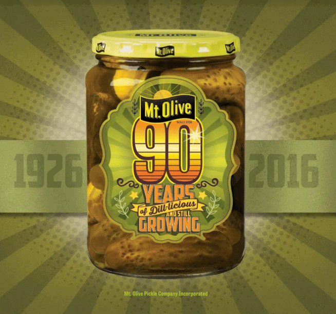 Mt Olive Pickles 90th Anniversary Jar