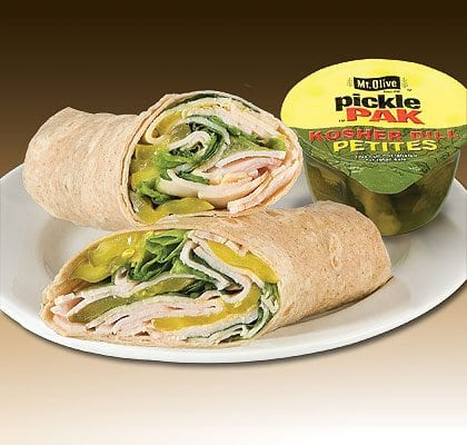 Turkey Stuffer Wrap with Mt. Olive Pickles