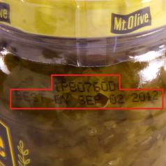 Mt Olive Pickles Product Code Location