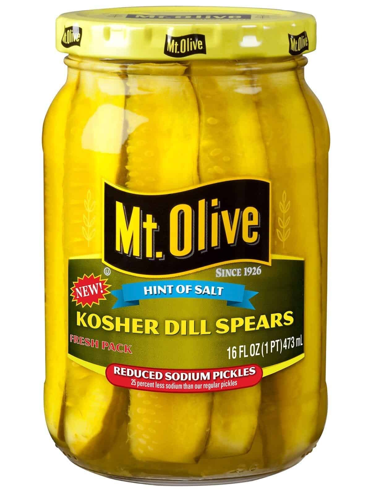 Mt. Olive Hint of Salt Kosher Dill Spears (Reduced Sodium)