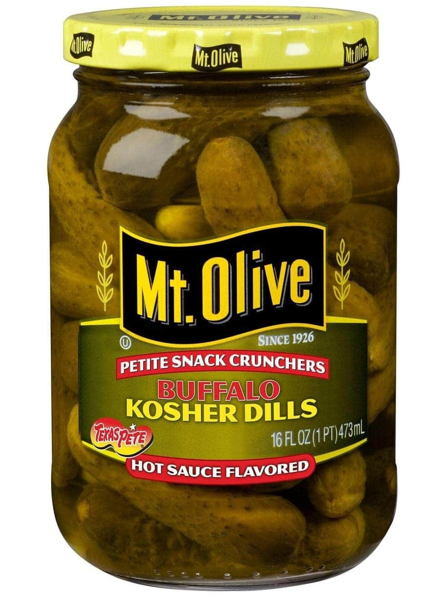 Texas Pete Buffalo Kosher Dill Snack Crunchers (Hot Sauce Flavored)