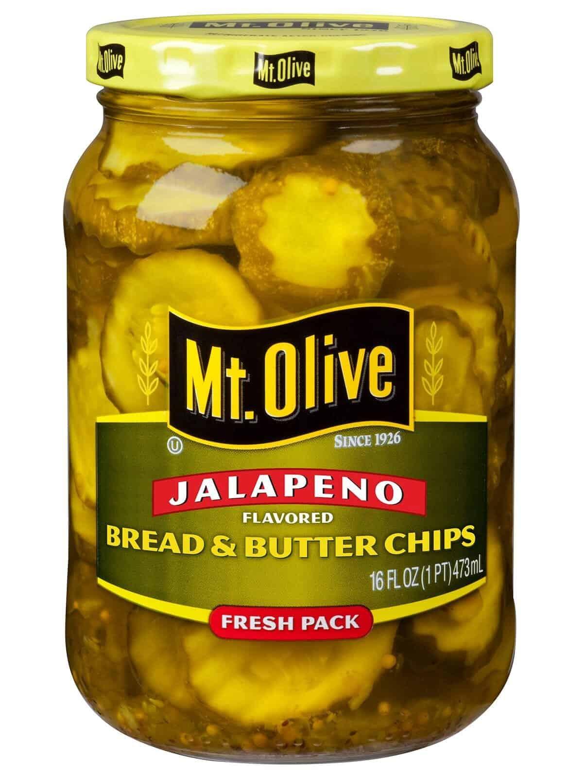 Bread & Butter Jalapeno Pickle Chips   Mt. Olive Pickles