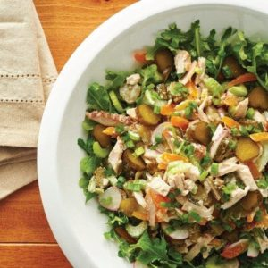 Smoked Turkey & Apricot Salad with Mt. Olive Sweet Pickles