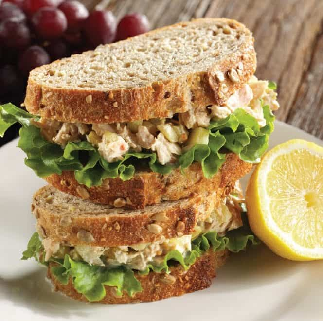 Mt. Olive Kosher Dill Lemon Tuna sandwich on a plate