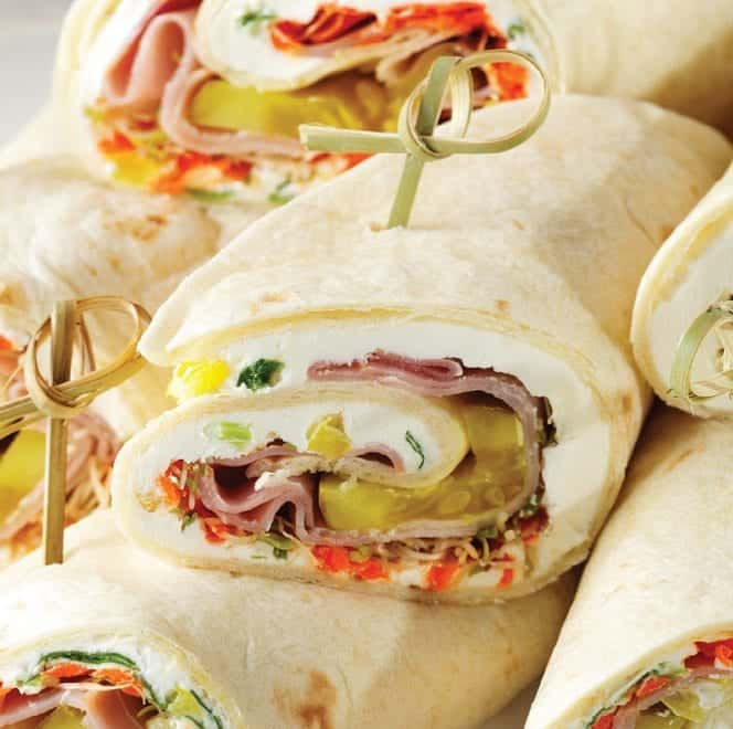 Pickled Tortilla Roll up with Toothpick