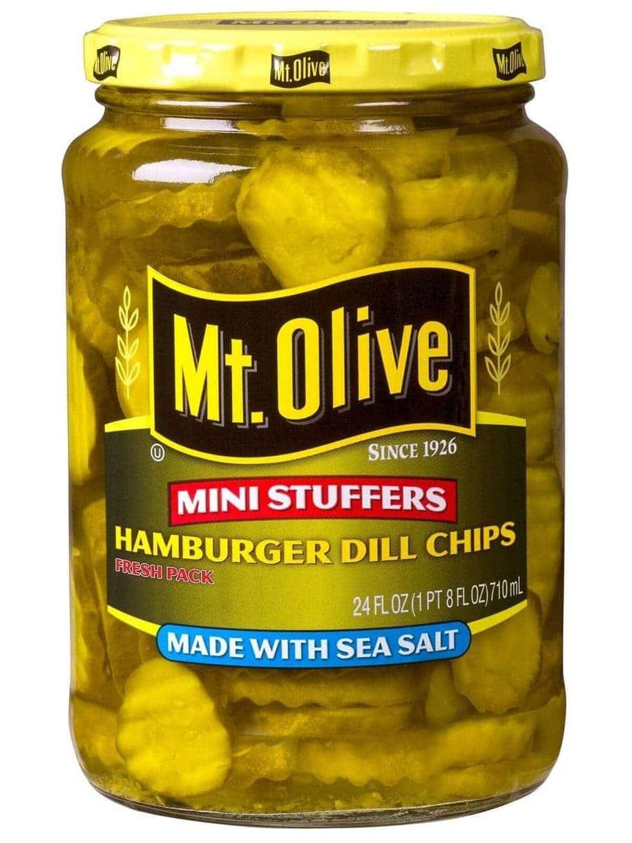 Mt. Olive Hamburger Dill Chips Mini Stuffers