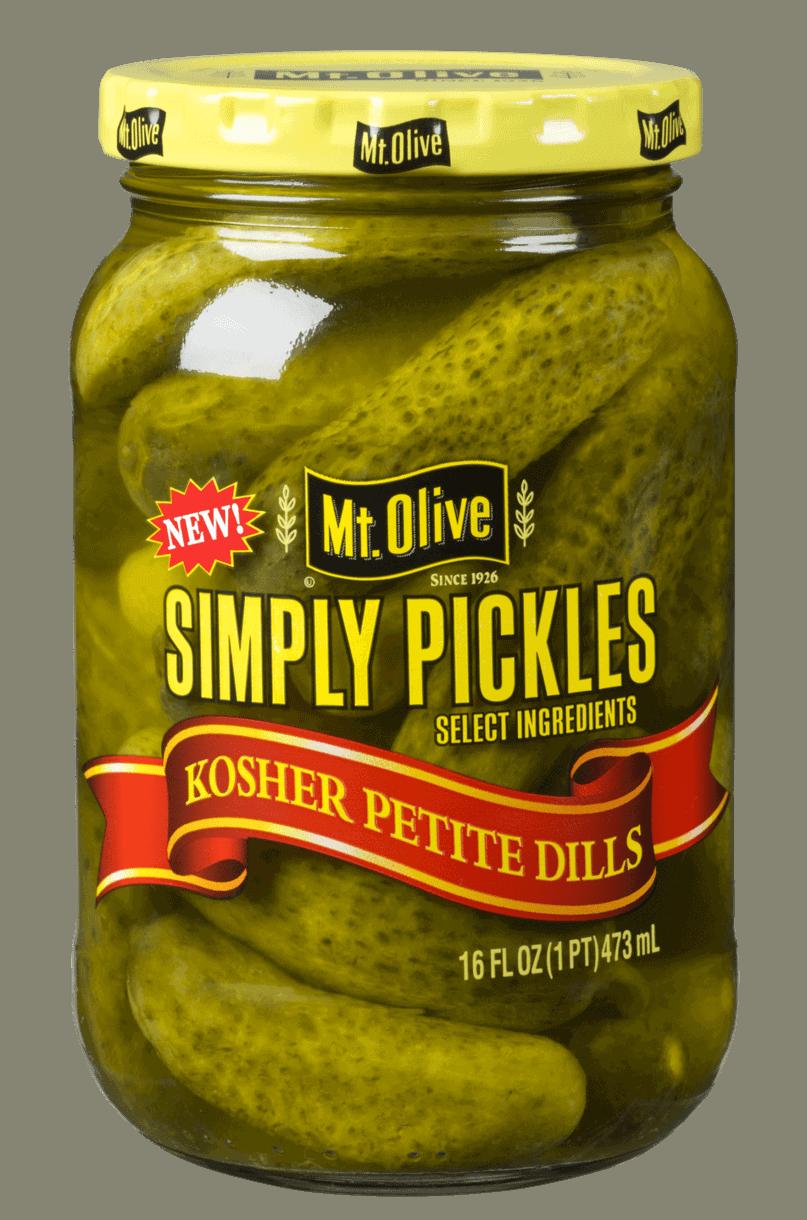 Simply Pickles Kosher Petite Dills - Mt Olive Pickles