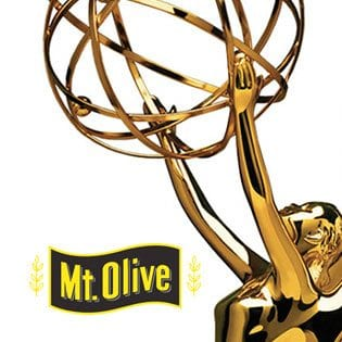 Mount Olive logo with an emmy award