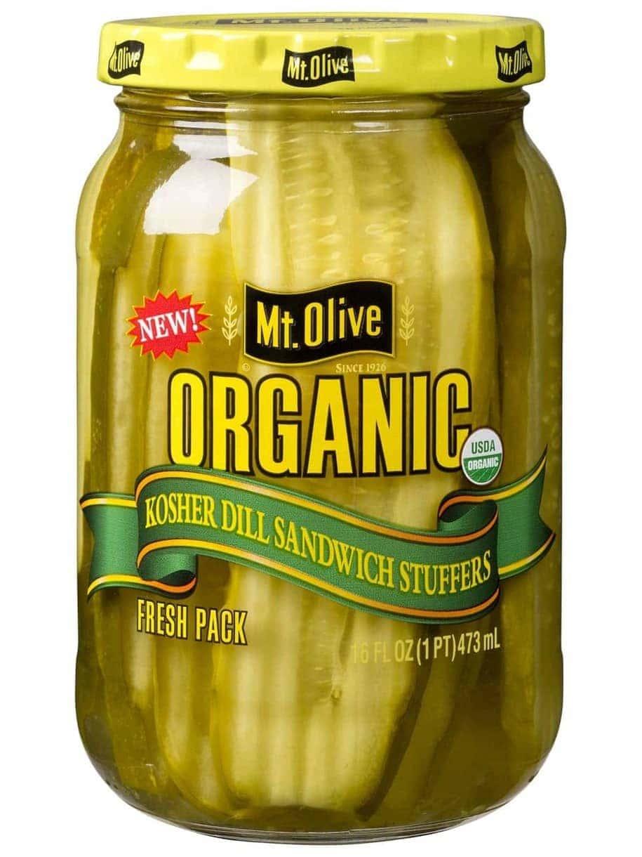 Organic Kosher Dill Sandwich Stuffer Jar