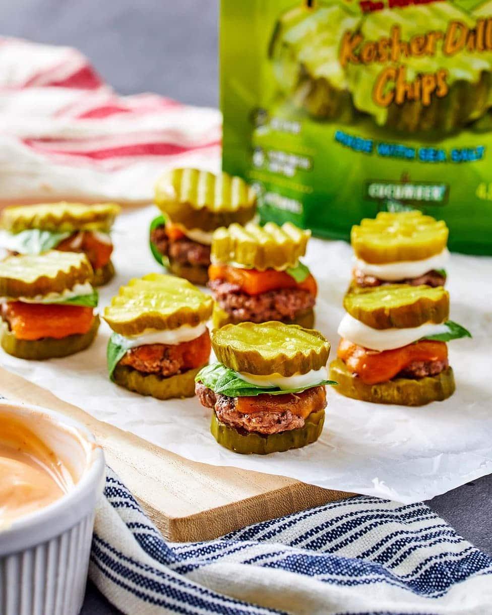 Mini Burger Pickle Sliders